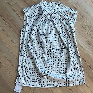MM LaFleur New York Cristeta Top Dot Print Ivory S